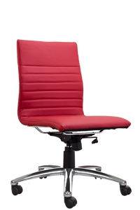 Superieur Modena Armless Red Task Chair